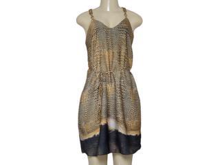 Vestido Feminino Morena Rosa 104072 Estampado Preto/marrom - Tamanho Médio