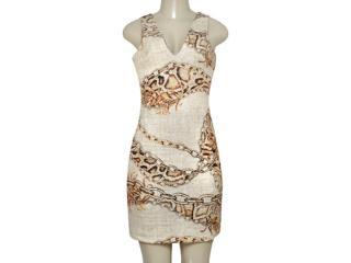 Vestido Feminino Morena Rosa 104390 Estampado Sepia - Tamanho Médio