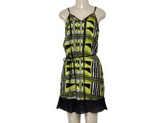 Vestido Feminino Morena Rosa 104394 Estampado Lima/preto - Tamanho Médio