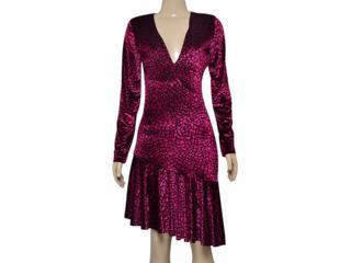 Vestido Feminino Morena Rosa 104799 Rosa Estampado Preto - Tamanho Médio