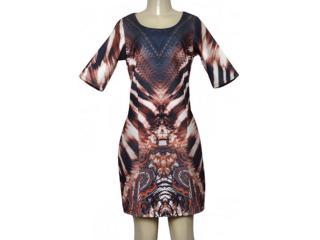 Vestido Feminino Morena Rosa 201970 Estampado Marrom - Tamanho Médio
