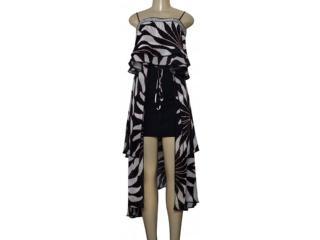 Vestido Feminino Morena Rosa 105974 Marinho Estampado - Tamanho Médio