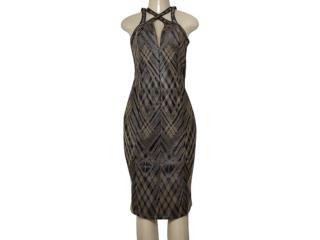 Vestido Feminino Morena Rosa 105828 Preto/dourado - Tamanho Médio