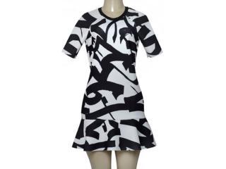 Vestido Feminino Morena Rosa 104687 Estampado Preto/branco - Tamanho Médio