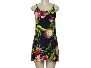 Vestido Feminino Morena Rosa 202583 Preto Floral - Tamanho Médio