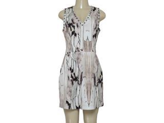 Vestido Feminino Morena Rosa 202488 Off White Estampado - Tamanho Médio