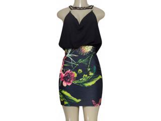Vestido Feminino Morena Rosa 104980 Estampado - Tamanho Médio