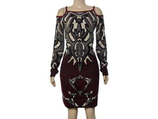 Vestido Feminino Morena Rosa 105711 Preto Estampado - Tamanho Médio