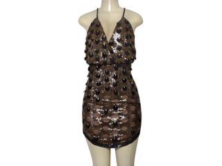 Vestido Feminino Morena Rosa 105815 Preto/dourado - Tamanho Médio
