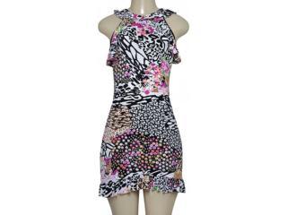 Vestido Feminino Sta Justina 2063 Estampada - Tamanho Médio
