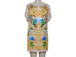 Vestido Feminino Triton 441402617 Off White/amarelo - Tamanho Médio