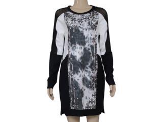 Vestido Feminino Triton 441402261 Estampado Off/preto - Tamanho Médio