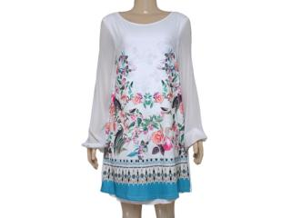 Vestido Feminino Triton 441403055 Off White Estampado Floral - Tamanho Médio