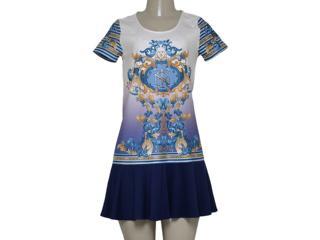 Vestido Feminino Triton 441403137 Off White Estampado - Tamanho Médio