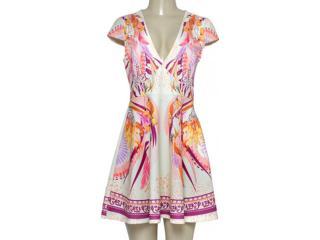 Vestido Feminino Triton 441403262 Off White Estampado - Tamanho Médio