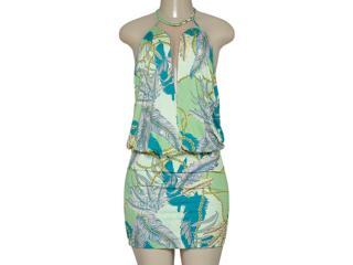 Vestido Feminino Triton 441403248 Estampado Verde - Tamanho Médio