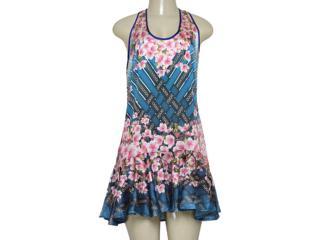 Vestido Feminino Triton 441403362 Azul Estampado - Tamanho Médio