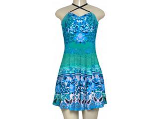 Vestido Feminino Triton 441403340 Azul Estampado - Tamanho Médio