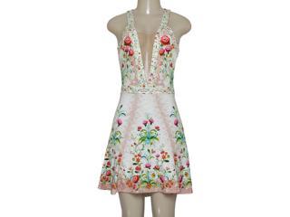 Vestido Feminino Triton 441403338 Off White Floral - Tamanho Médio