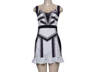 Vestido Feminino Triton 441403251 Off White Estampado - Tamanho Médio