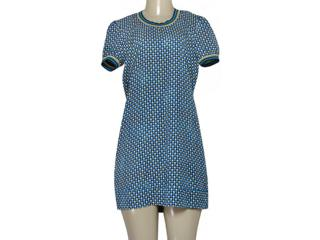 Vestido Feminino Triton 441403606 Var36 Azul Estampado - Tamanho Médio
