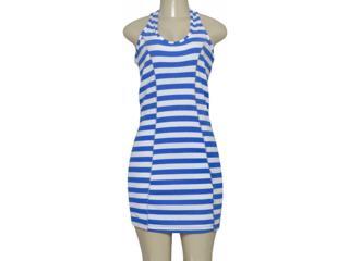 Vestido Feminino Triton 441401488 Listrado Azul - Tamanho Médio