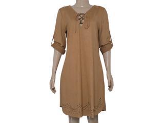 Vestido Feminino Zinco 103043 Marrom - Tamanho Médio