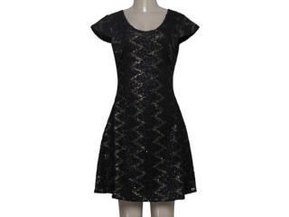 Vestido Feminino Zinco 102952 Preto/dourado - Tamanho Médio