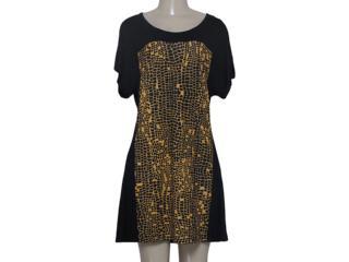 Vestido Feminino Zinco 103159 Preto/mostarda - Tamanho Médio