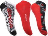 Meia Feminina Coca-cola Shoes Cb5632 Kit Zebra/vermelho/preto