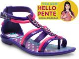 Sandália Feminino Infantil Grendene 21226 Hello Kitty  Roxo/rosa