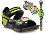 Sandália Masculino Infantil Grendene 21313 Ben 10 Preto/verde
