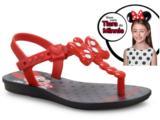Sandália Fem Infantil Grendene 21887 22040 Minnie Bow Fever  Preto/vermelho/prata