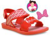 Sandália Fem Infantil Grendene 21366 Disney Minnie Vermelho/rosa