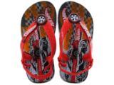 Chinelo Masc Infantil Grendene 28010 Hot Wheels Tyre Cinza/vermelho