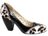 Sapato Feminino Tanara 9321 Preto/leopardo