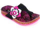 Tamanco Fem Infantil Klin 960.008 Preto/pink
