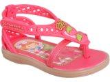 Sandália Fem Infantil Grendene Moranguinho 20850 Bege/rosa