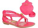Sandália Fem Infantil Grendene Moranguinho 20831 Bege/rosa