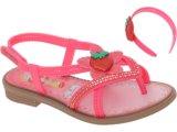Sandália Fem Infantil Grendene Moranguinho 20839 Marrom/rosa