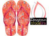 Chinelo Feminino Grendene Ipanema Troca 25518 Laranja/rosa/branco