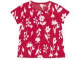 Blusa Fem Infantil Puc 2dq3 1cen Vermelho Floral