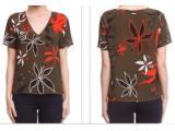 Camiseta Feminina Forum 344601865 Vf17 Verde Floral