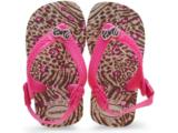 Chinelo Uni Infantil Havaianas Baby Chic Bege/rosa