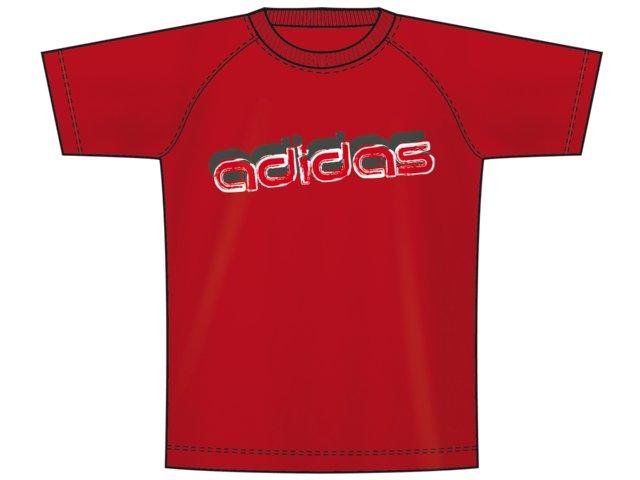 Camiseta Masc Infantil Adidas P14797 Vermelho
