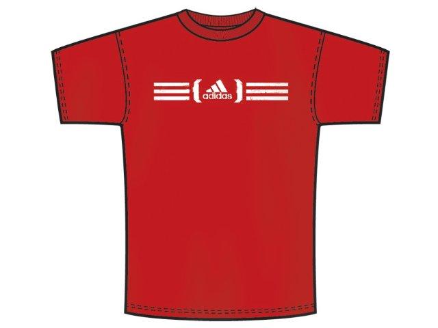 Camiseta Masculina Adidas P25457 Vermelho