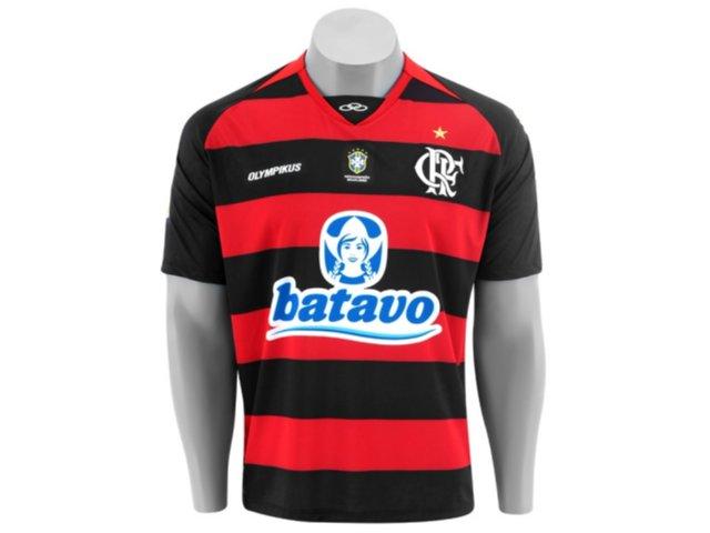 Camisa Masculina Olympikus Flamengo 06000v Preto/vermelho