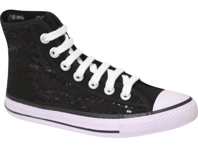 Tênis Feminino Coca-cola Shoes C01006001 Preto