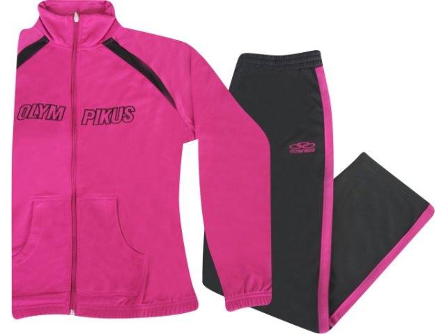 Abrigo Feminino Olympikus F04045 Pink/preto