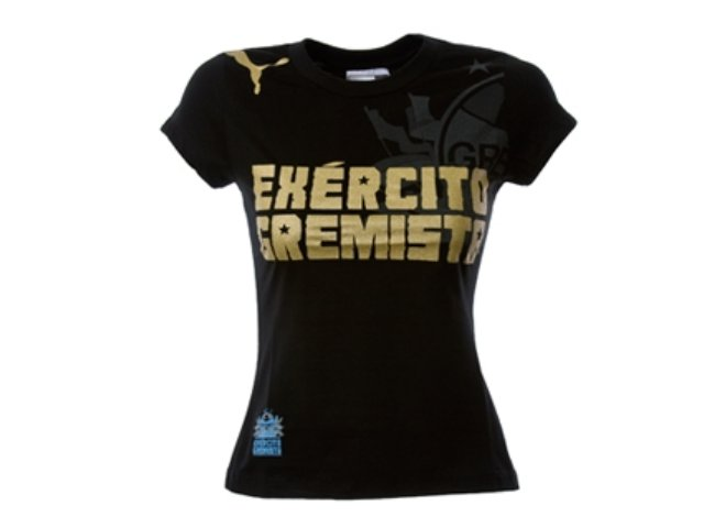 T-shirt Feminino Grêmio C2077f Exercito Gremista Preto